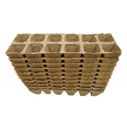 Macetas cuadradas de turba 4 x 5 cm - 120 piezas -