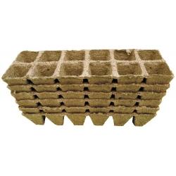 Square peat pots 4 x 5 cm - 72 pieces