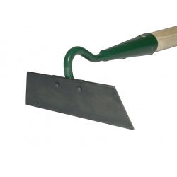 One sided 18 cm hoe with a handle
