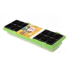 Roheline 47 x 15 cm mini kasvuhoone 18 pottiga + üks TASUTA -