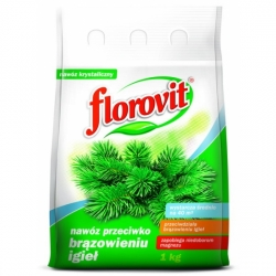 Skujkoku mēslojums - aizsargā adatas no brūnināšanas - Florovit® - 1 kg -