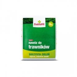 Trávnikové hnojivo - šťavnaté zelené, husté a kompaktné trávniky - Fruktovit Plus - 5 kg -