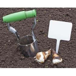 Flower bulb planting tool - steel bulb planter