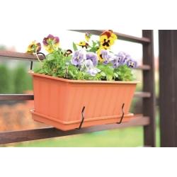 Gancho de metal para caixas de plantador de varanda - Agrohang - Preto -