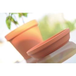 """Glinka"" simple plant pot ø 19 cm with a saucer - terracotta-coloured"