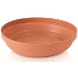 """Glinka"" simple plant pot ø 15 cm with a saucer - terracotta-coloured"