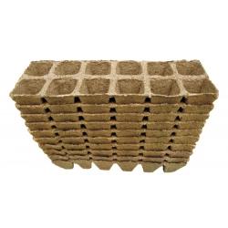 Квадратные торфяные горшки 4 х 5 см - 12 штук -