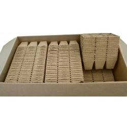 Macetas de turba cuadradas 8 x 8 cm - 1242 piezas -