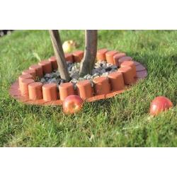 Garden palisade - low - 4,05 m - Terracotta