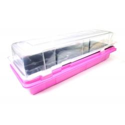 Rózsaszín 47 x 15 cm-es mini üvegház, 18 edényben + egy INGYEN -