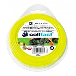 Linka tnąca do podkaszarki, żyłka tnąca - 1,6mm, 15m - kwadratowa - CELLFAST