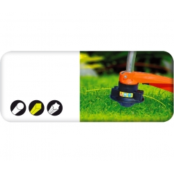 Косилка для триммеров для травы - 2,4 мм, 15 м - квадратная - CELLFAST -