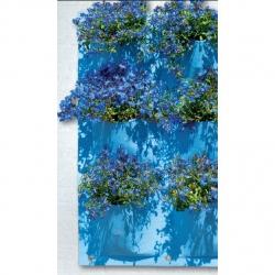 Wiszący ogród - kieszeń kwiatowa 9 komór - niebieski
