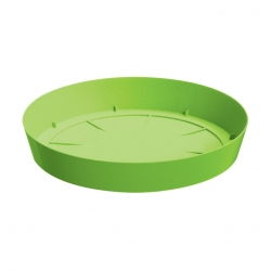 Light round flower pot with saucer - 13,5 cm - Lime