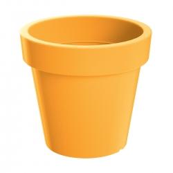 Lekka doniczka okrągła Lofly - 13,5 cm - żółta