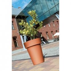 Maceta redonda, alta - Lofly Slim - 20 cm - Stone Gray -