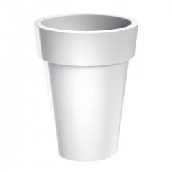 Maceta redonda, alta - Lofly Slim - 20 cm - Blanco -