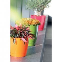 Round flower pot with saucer - Coubi - 10 cm - Graphite