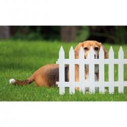 Garden fence - 27,5 cm x 3,2 m - White