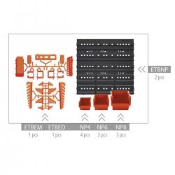 Dinding alat, set penyelenggara - NTBNP4 -