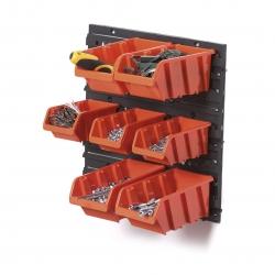 Zestaw kuwet, pojemników na narzędzia - 7 kuwet + tablica - NTBNP5