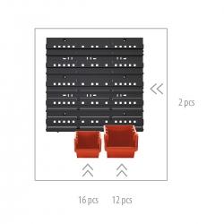 Bộ khay công cụ - 28 khay + bảng treo tường - NTBNP1 -