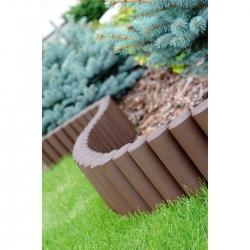 Garden palisade - high - 2,7 m - Brown