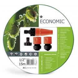 "15-m ECONOMIC ½"" garden hose with a connector set - CELLFAST"