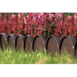 Garden fence - Garden Line - 10 m - Brown