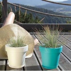 Piring cahaya untuk pot bunga Lofly - 15,5 cm - Putih -