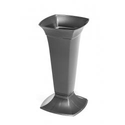 Цементная ваза высокая - Этна - Графит -