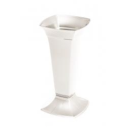 Цементарна ваза висока - Етна - Бели бисер -