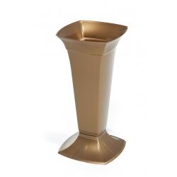 Цементная ваза высокая - Этна - Золото -