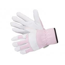 Pink-White Country diperkuat, sarung tangan taman tebal -