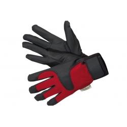 Lampu tetes merah-hitam dan sarung tangan taman tahan air -