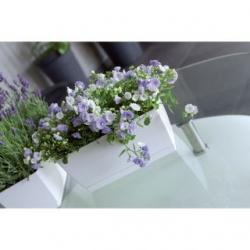 Kandiline ristkülikukujuline lillepott - Coubi - 39 x 19 cm - Piimakohv -