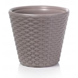 Round flower pot - Rato - 30 cm - Mocca