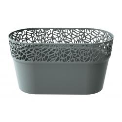 Maceta larga con encaje - 27,5 x 14,5 cm - Naturo - Stone Grey -