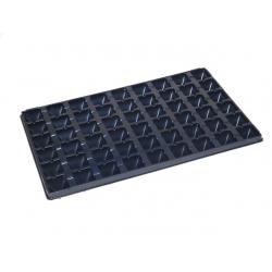 Sēklu paplāte, stādaudzētava pods, ieliktnis - 28 šūnas - 60 paplātes -
