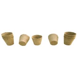Macetas redondas de turba ø7 cm x 8 cm - 50 piezas -