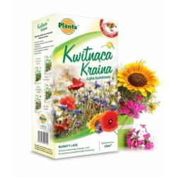 Virágföld - Nyári csokrok - hosszú, bőségesen virágzó virágok és gyógynövények választéka - 200 g -  - magok