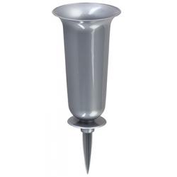"Кладбищенская ваза ""Дама"" на столбе - серебро. -"
