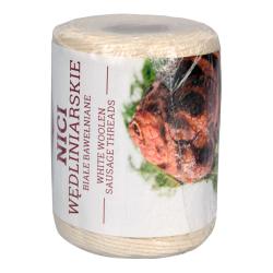 Hilo de carnicero de algodón blanco - 250 g - resistente al horno hasta 240 ° C -
