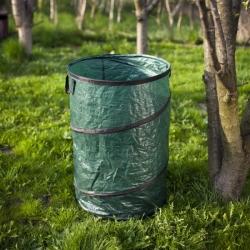 Большая всплывающая садовая сумка для сухих листьев, травы, сорняков и мусора - 210 литров -