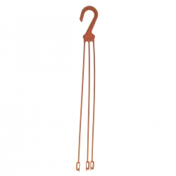 Holder for hanging flower pots - large, terracotta-coloured