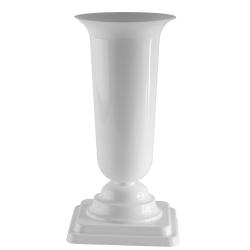 Высокая стройная ваза 'Дама' - белая -