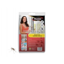 White magnetic insect door screen - 100 x 220 cm - Hunter