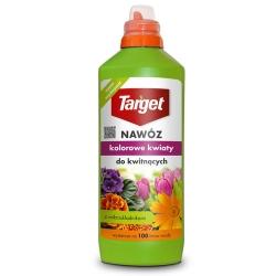 """Hnojivo pre kvapalné kvitnúce rastliny - """"Kolorowe Kwiaty"""" (Farebné kvety) - Target® - 1 litr -"""