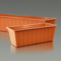 """Agro"" outdoor planter - terracotta-coloured - 60 cm"