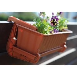 """Agro"" outdoor planter - terracotta-coloured - 40 cm"